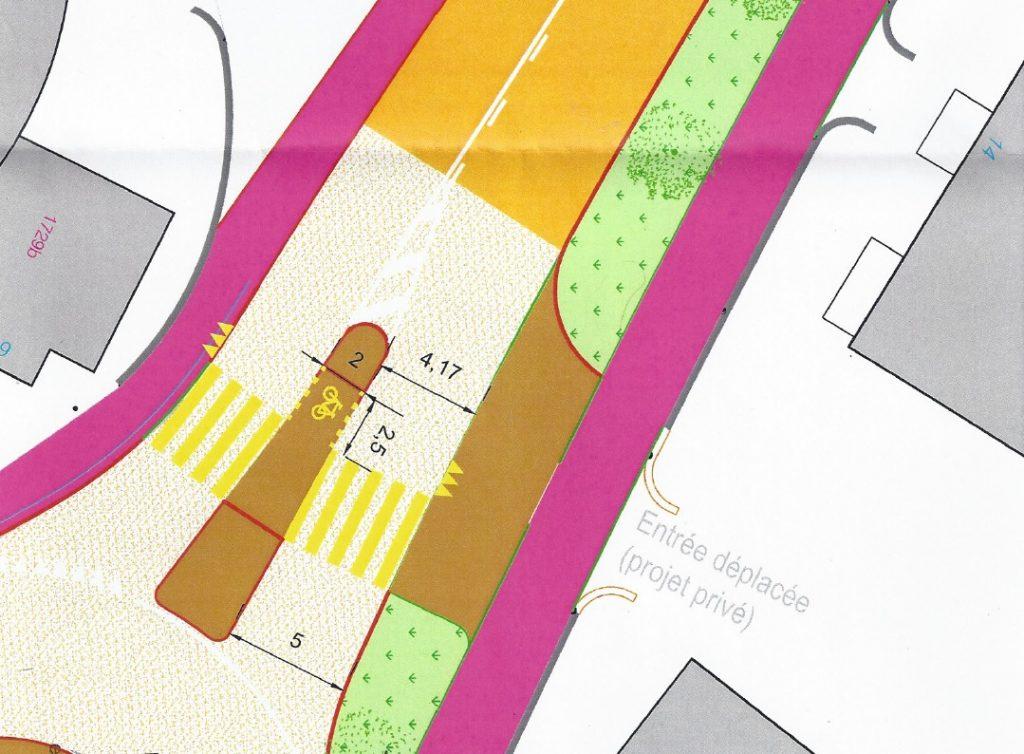 Plan du giratoire de la Tour