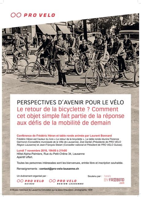 Conférence 7 novembre à Lausanne